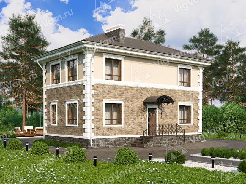 """Каркасный дом V115 """"Роселле"""""""
