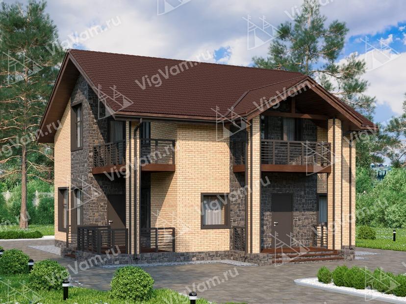 """Каркасный дом с 3 спальнями V086 """"Оденсбург"""""""