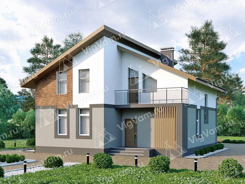 """Каркасный дом с 4 спальнями V112 """"Деминг"""""""