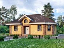 """Каркасный дом с эркером V111 """"Галлуп"""""""