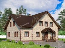 """Каркасный дом с мансардой V083 """"Онеонта"""""""