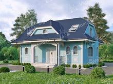 "Каркасный дом с эркер V110 ""Белен"""