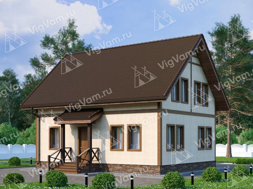 """Каркасный дом с 3 спальнями V082 """"Платсбург"""""""