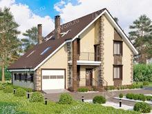 """Каркасный дом с гаражом V144 """"Бристол"""""""