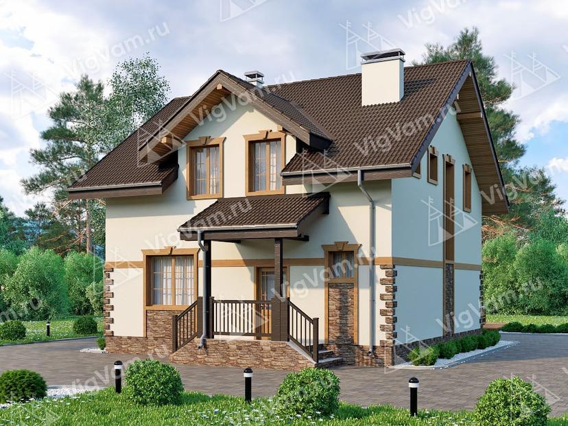 """Каркасный дом с мансардой V109 """"Порталес"""""""