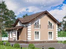 """Каркасный дом с мансардой и 4 спальнями V081 """"Порт Вашингтон"""""""