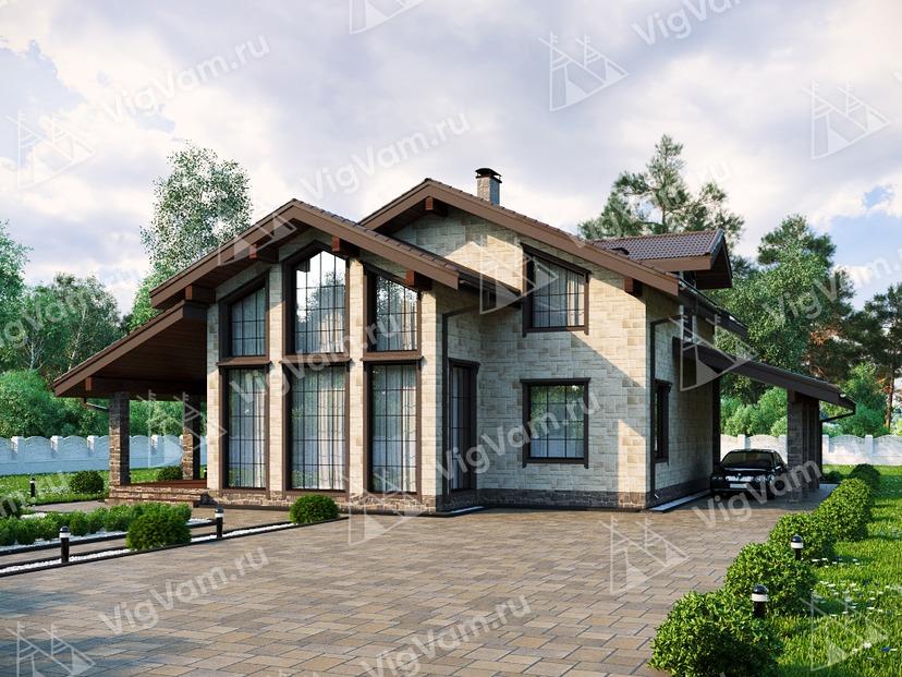 """Каркасный дом с мансардой V108 """"Ловингтон"""""""