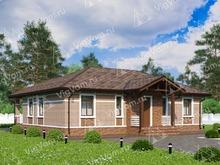 """Каркасный дом с 3 спальнями V080 """"Роттердам"""""""