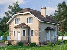 """Каркасный дом с мансардой и 4 спальнями V079 """"Стоун Брук"""""""