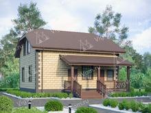 """Каркасный дом с эркером и 3 спальнями V141 """"Мансфиелд"""""""