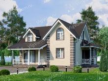 """Каркасный дом с 3 спальнями и мансардой V078 """"Фарго"""""""