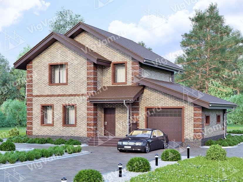 """Каркасный дом с гаражом V140 """"Мериден"""""""