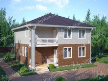 """Каркасный дом с 3 спальнями и балконом V139 """"Миддлтоун"""""""