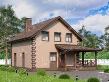 """Каркасный дом с 3 спальнями и мансардой V076 """"Виллистон"""""""
