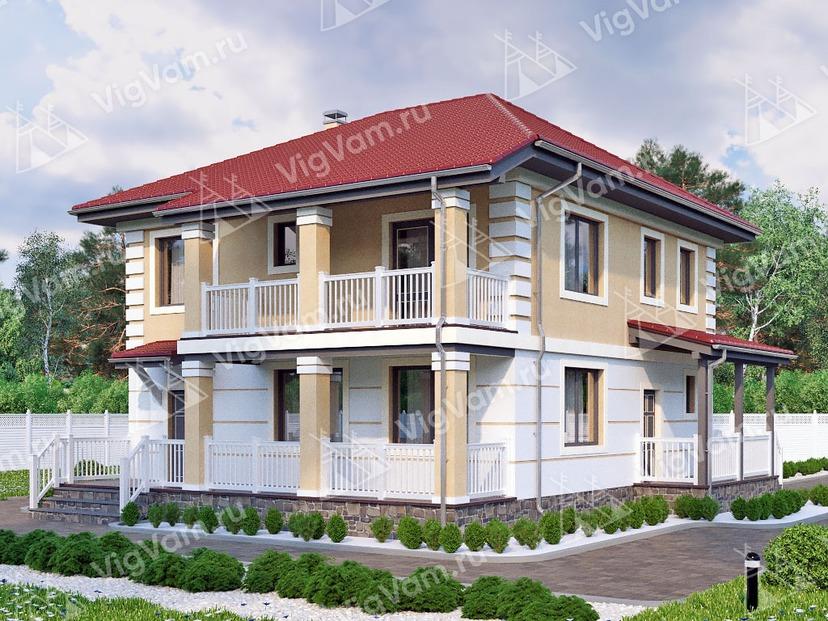 """Каркасный дом с 3 спальнями и террасой V136 """"Стратфорд"""""""