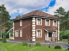 """Каркасный дом с 4 спальнями V073 """"Лима"""""""
