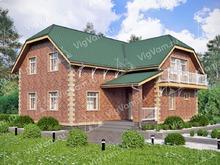 """Каркасный дом с мансардой V133 """"Ватерфорд"""""""