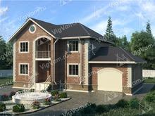"""Каркасный дом с гаражом и 3 спальнями V129 """"Бридгетон"""""""