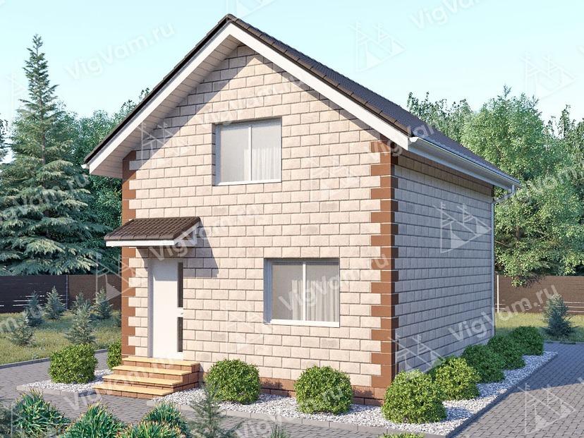 """Каркасный дом с мансардой V128 """"Цранфорд"""""""