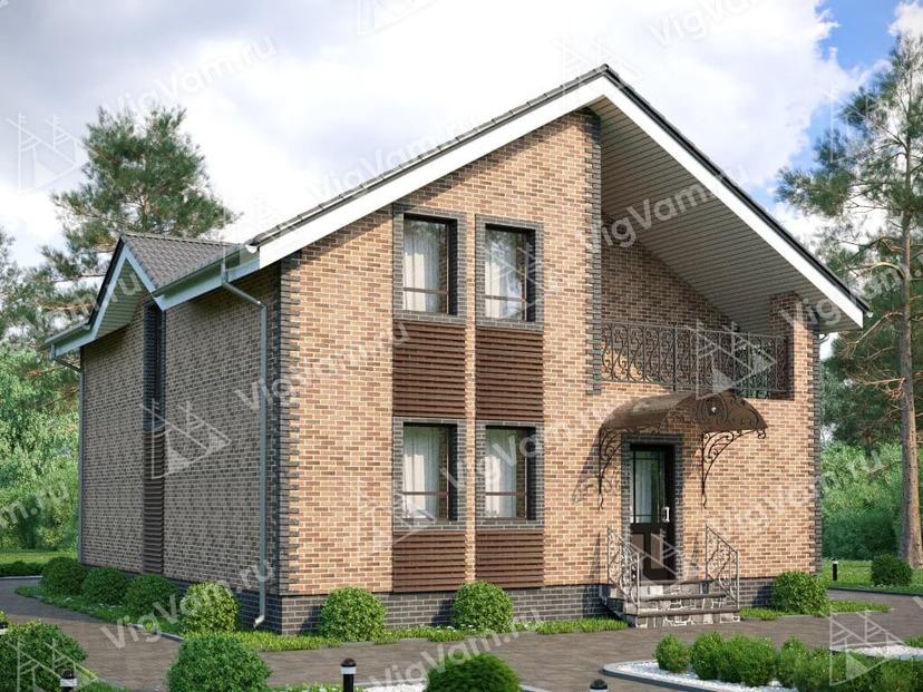 """Каркасный дом с 3 спальнями и мансардой V127 """"Едисон"""""""