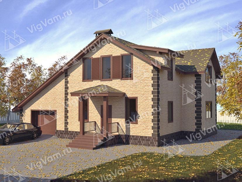 """Каркасный дом с гаражом V125 """"Глассборо"""""""