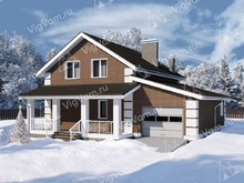 "Каркасный дом с гаражом V124 ""Хобокен"""