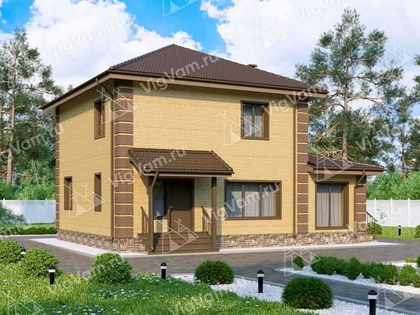 """Дом из керамического блока с 3 спальнями VK093 """"Фредония"""""""