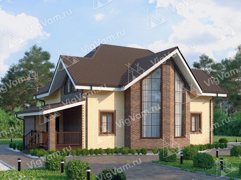 """Каркасный дом со вторым светом, 3 спальнями и эркером V123 """"Ирвингтон"""""""