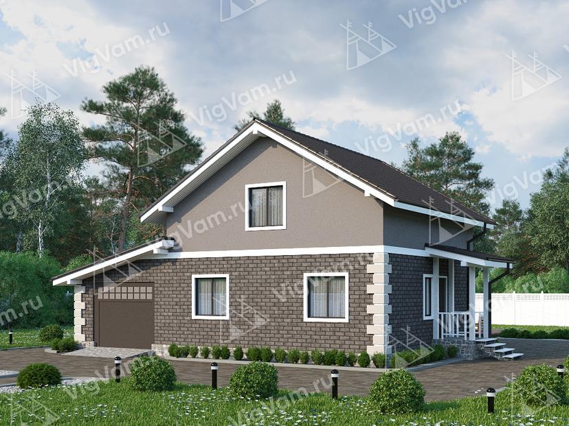 "Каркасный дом с гаражом V122 ""Лакехарст"""