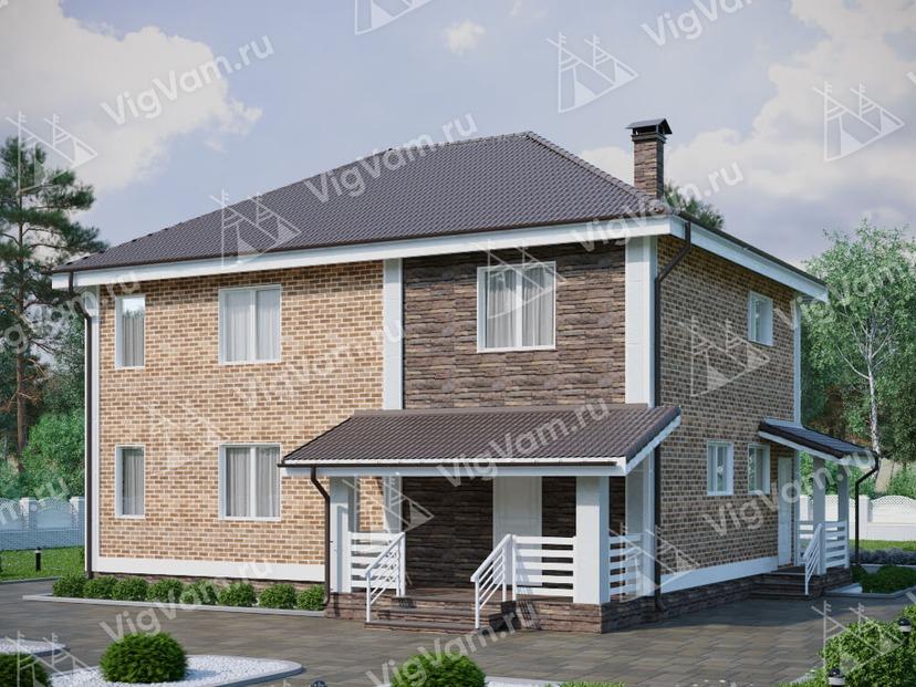 """Каркасный дом с 3 спальнями V121 """"Лонг Бранч"""""""