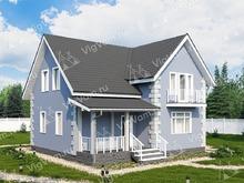"""Каркасный дом с 3 спальнями и мансардой V120 """"Миллвилле"""""""