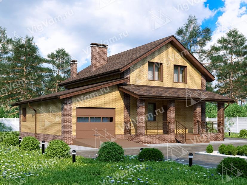 """Каркасный дом с гаражом V050 """"Сиасайд"""""""