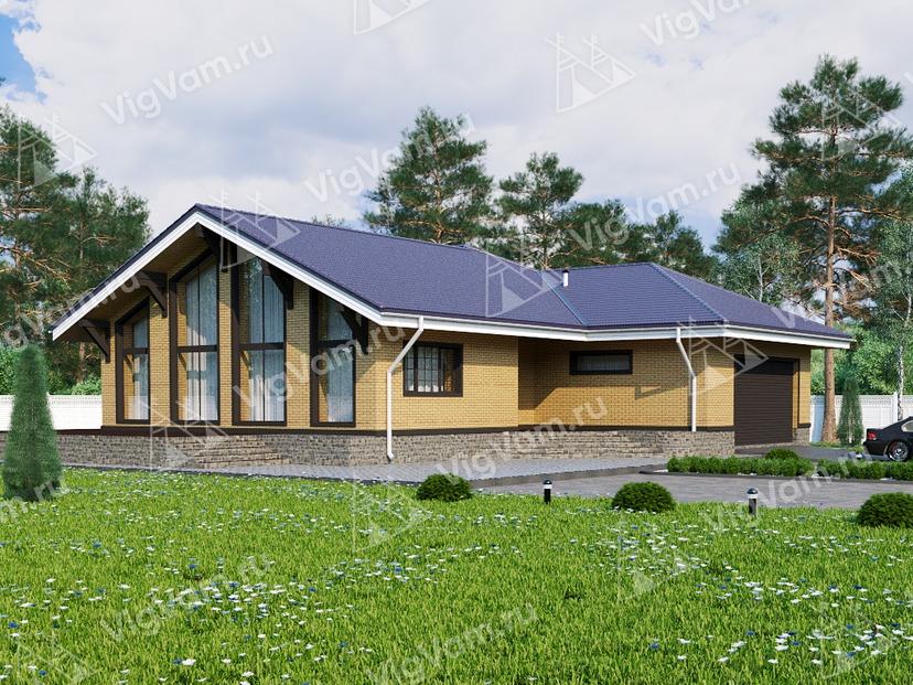 """Каркасный дом с 3 спальнями и гаражом V049 """"Тиллмок"""""""