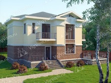 """Каркасный дом с 4 спальнями, сауной и террасой V035 """"Ворланд"""""""