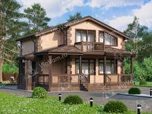 """Каркасный дом с мансардой, 4 спальнями и террасой V011 """"Мюррей"""""""