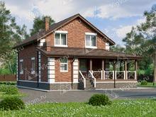 """Каркасный дом с мансардой, 4 спальнями и террасой V010 """"Ордевиль"""""""