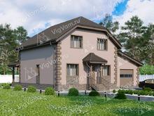 """Каркасный дом с мансардой, 4 спальнями и гаражом V031 """"Шэридан"""""""