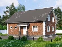 """Каркасный дом с мансардой и 3 спальнями V016 """"Дарлингтон"""""""