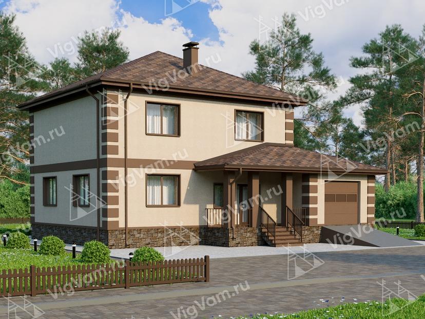 """Каркасный дом с 4 спальнями и гаражом V027 """"Коди"""""""