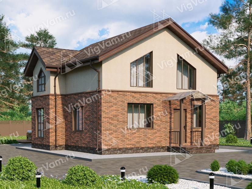 """Дом из керамического блока с мансардой и 3 спальнями VK032 """"Ромни"""""""
