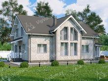 """Каркасный дом с 3 спальнями и вторым светом V021 """"Ватервел"""""""