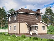 """Каркасный дом с 4 спальнями V072 """"Лорэин"""""""