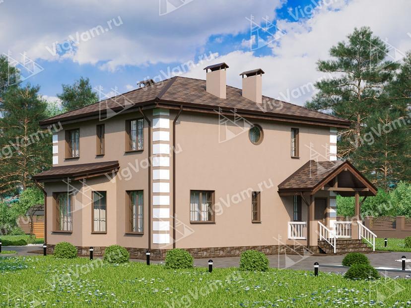 """Каркасный дом с 3 спальнями V071 """"Мартинс"""""""