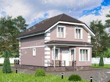 """Каркасный дом с мансардой, 4 спальнями и эркером V070 """"Массиллон"""""""