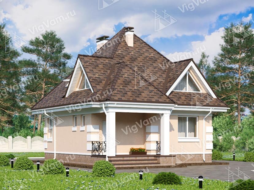 """Дом из керамического блока с 3 спальнями VK069 """"Ментор"""""""