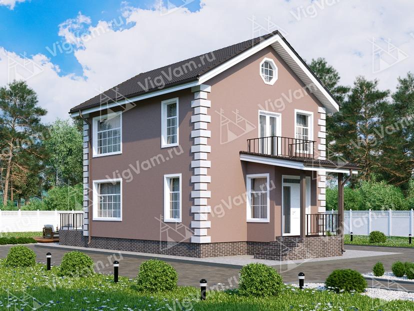 """Каркасный дом с 3 спальнями V045 """"Геттисбург"""""""