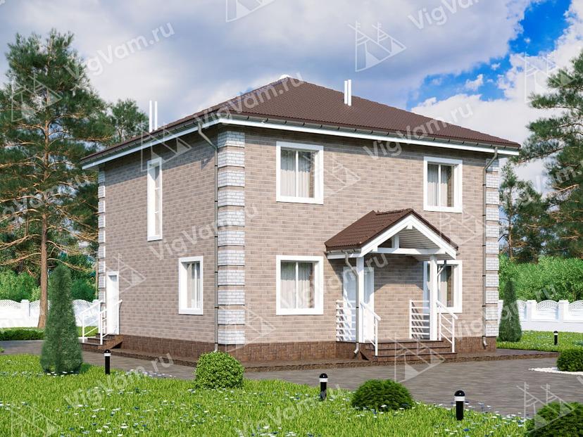 """Каркасный дом с 3 спальнями V067 """"Ворвингтон"""""""
