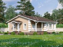 """Каркасный дом с 3 спальнями V065 """"Занесвиль"""""""