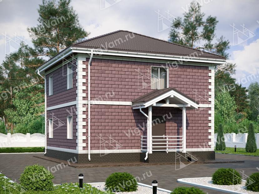 """Каркасный дом с 3 спальнями V063 """"Альва"""""""