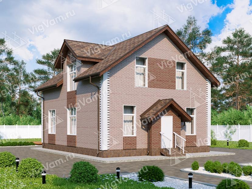 """Каркасный дом с 3 спальнями и мансардой V060 """"Дункан"""""""